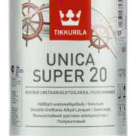 TIKKURILA Unica Super 20 уретано-алкидный лак Уника Супер (полумат) 0,9л