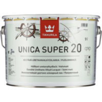 TIKKURILA Unica Super уретано-алкидный лак Уника Супер (полумат) 9л